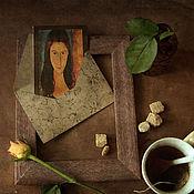 Картины и панно ручной работы. Ярмарка Мастеров - ручная работа Натюрморт фото, картина За чашкой чая с Модильяни. Handmade.