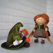 Куклы и игрушки handmade. Livemaster - original item The Witch Doll. The witch with the cat. The witch.. Handmade.