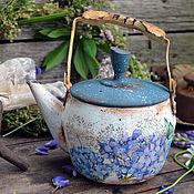 """Посуда ручной работы. Ярмарка Мастеров - ручная работа Заварочный чайник для декора """"Гортензия"""", для дачи. Handmade."""