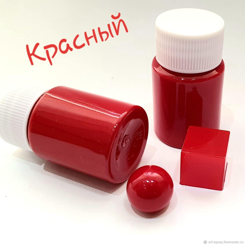 Pigment paste for coloring epoxy resin. Color red, Epoxy resin, Volgograd,  Фото №1