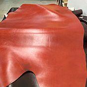 Материалы для творчества ручной работы. Ярмарка Мастеров - ручная работа Крс растительного дубления рыжая кожа натур холодного тиснения. Handmade.