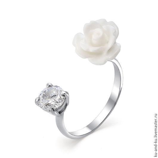 Кольца ручной работы. Ярмарка Мастеров - ручная работа. Купить Кольцо. Роза белая. (KU&KU). Handmade. Ку-энд-ку