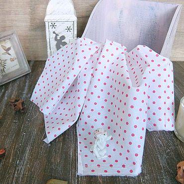 Материалы для творчества ручной работы. Ярмарка Мастеров - ручная работа Ткань сатин розовый горошек. Handmade.