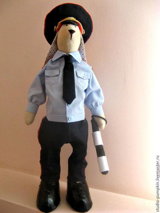 """Куклы Тильды ручной работы. Ярмарка Мастеров - ручная работа. Купить Тильда """"Кролик Майор"""". Handmade. Комбинированный, лён, кожзам"""