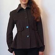 Одежда ручной работы. Ярмарка Мастеров - ручная работа Укороченное пальто. Handmade.
