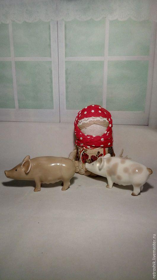 Винтажные предметы интерьера. Ярмарка Мастеров - ручная работа. Купить Свинка ЛФЗ. Handmade. Комбинированный, свинья, фарфор