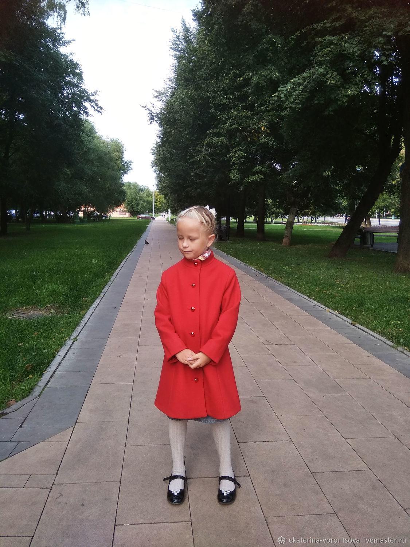 """Пальто шерсть """"Классика"""" для девочки, Пальто, Москва,  Фото №1"""