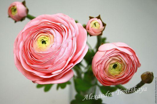 Цветы ручной работы. Ярмарка Мастеров - ручная работа. Купить Ранункулюс из фоамирана. Handmade. Розовый, ранункулюс из фоамирана, фом