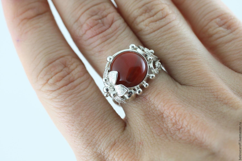 Кольцо из серебра 925 с сердоликом, Кольца, Тамбов, Фото №1