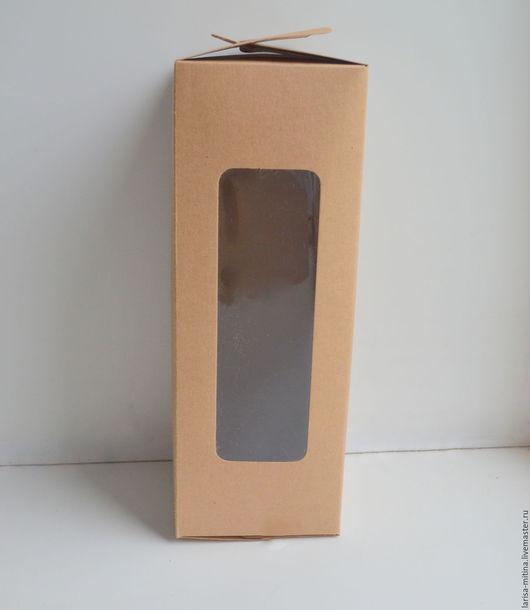 Куклы и игрушки ручной работы. Ярмарка Мастеров - ручная работа. Купить Коробка упаковочная  27,5х11х10 см бурая. Handmade.