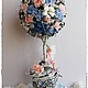 """Топиарии ручной работы. Ярмарка Мастеров - ручная работа. Купить Топиарий """"Дерево фей"""".. Handmade. Синий, топиарий дерево счастья"""