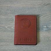 Обложки ручной работы. Ярмарка Мастеров - ручная работа Обложка ручной работы из кожи для паспорта. Handmade.