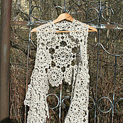 Одежда handmade. Livemaster - original item Linen vest-shawl-wrap. Handmade.