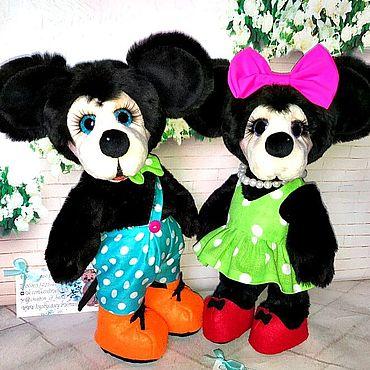 Куклы и игрушки ручной работы. Ярмарка Мастеров - ручная работа Микки и Минни Маус. Handmade.