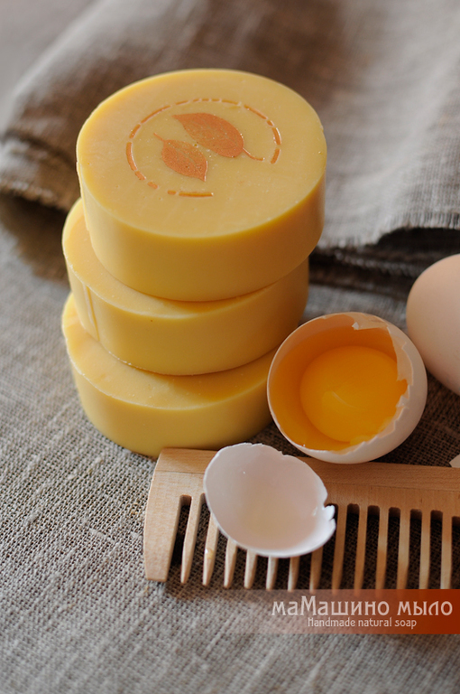 Твердый шампунь, шампуневое мыло Цыпочка, яичный шампунь, натуральный шампунь, желтковый шампунь, шампуневое мыло, маМашино мыло