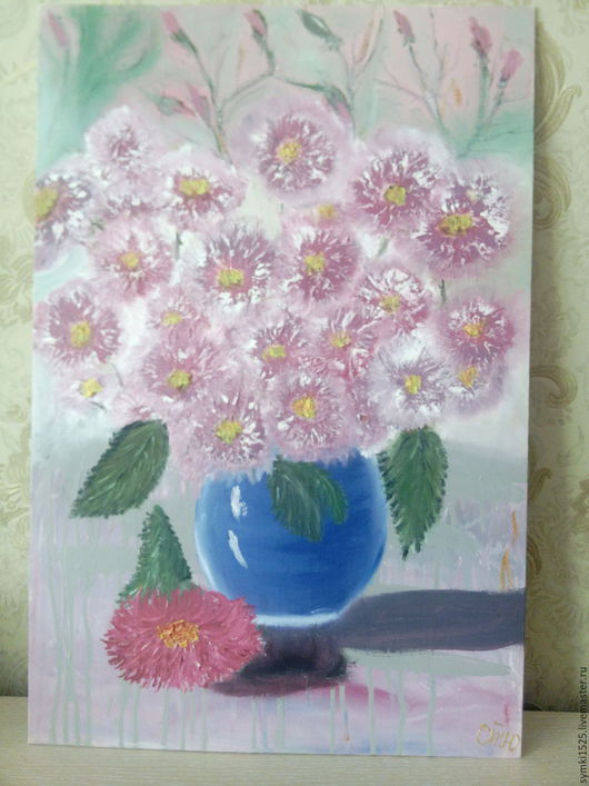 """Картины цветов ручной работы. Ярмарка Мастеров - ручная работа. Купить Картина""""Цветы."""". Handmade. Комбинированный, картина для интерьера"""