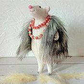 Для дома и интерьера handmade. Livemaster - original item Ellochka the rat in the vest, repeat. Handmade.