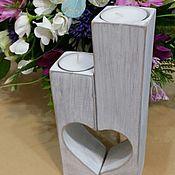 Для дома и интерьера handmade. Livemaster - original item candlesticks cedar for romantic evenings attraction. Handmade.
