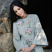 Одежда handmade. Livemaster - original item Exclusive embroidered dress in