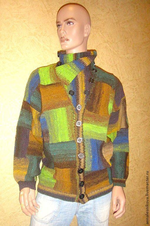 """Кофты и свитера ручной работы. Ярмарка Мастеров - ручная работа. Купить Мужской Жакет """"По многочисленным просьбам""""-2. Handmade."""
