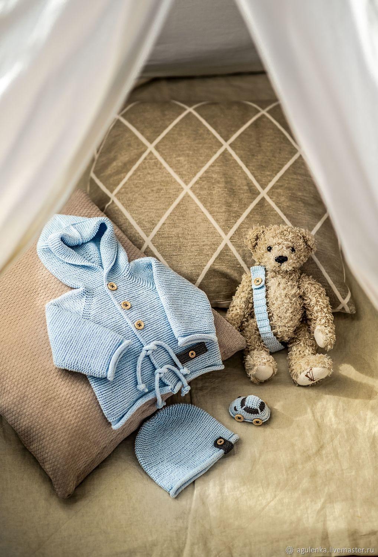 Стильный сет для новорожденного с аксессуарами, голубой, Комплекты одежды для малышей, Петрозаводск,  Фото №1