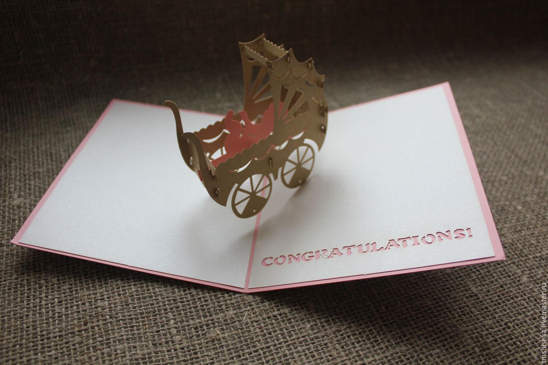 Женщины, 3д открытка с новорожденным