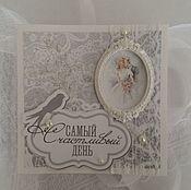 Открытки ручной работы. Ярмарка Мастеров - ручная работа Открытка свадебная ручной работы. Handmade.