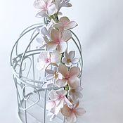 Свадебный салон handmade. Livemaster - original item Bezel with white, pink flowers. For wedding, graduation, photo shoot.. Handmade.