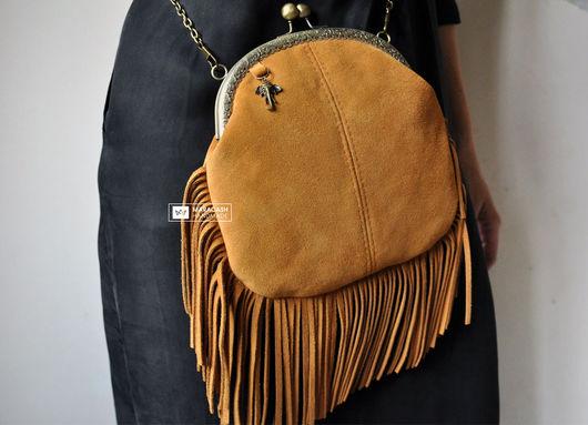 Женские сумки ручной работы. Ярмарка Мастеров - ручная работа. Купить Женская сумка «Саванна», натуральная замша. Handmade. Бежевый