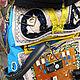 """Рюкзаки ручной работы. Заказать Детский текстильный рюкзак-торба """"Робот"""". Наталья-Небо. Ярмарка Мастеров. Торба, развивающая сумка"""