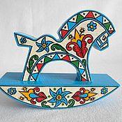 Народные сувениры ручной работы. Ярмарка Мастеров - ручная работа Лошадка-качалка Деревянная игрушка. Handmade.