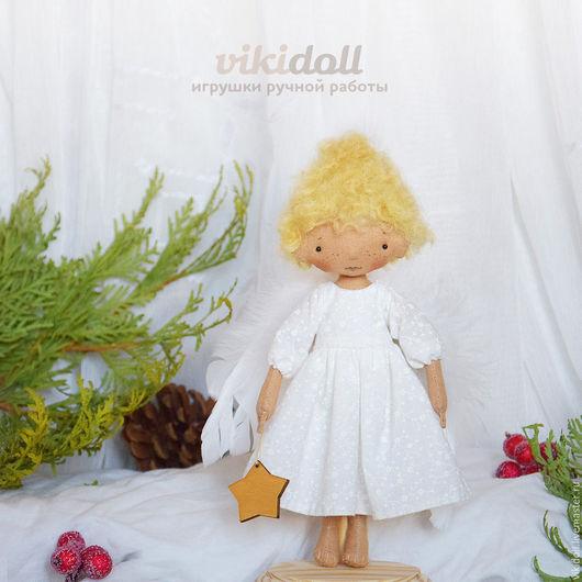 Человечки ручной работы. Ярмарка Мастеров - ручная работа. Купить Тексильная кукла Ангел. Handmade. Белый, текстильный ангел