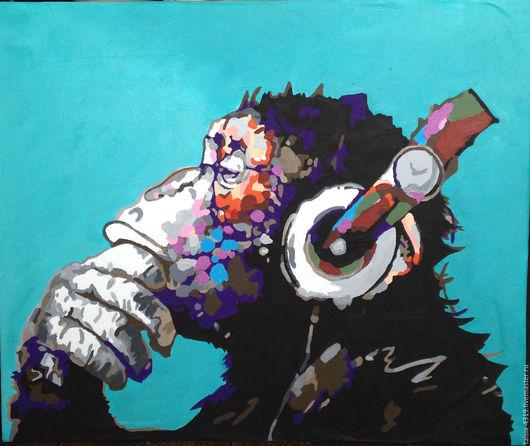 Животные ручной работы. Ярмарка Мастеров - ручная работа. Купить Релакс. Handmade. Комбинированный, акриловые краски, Живопись, картина для интерьера