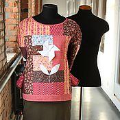 """Одежда ручной работы. Ярмарка Мастеров - ручная работа Лоскутная блуза """"Лето красное"""" свитшот женский,пэчворк.. Handmade."""