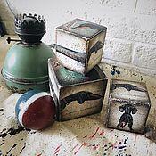 Для дома и интерьера handmade. Livemaster - original item Dachshunds, wooden block. Handmade.