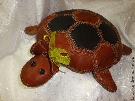 Куклы и игрушки ручной работы. Ярмарка Мастеров - ручная работа. Купить Черепаха кожаная.. Handmade. Натуральная кожа, черепаха из кожи