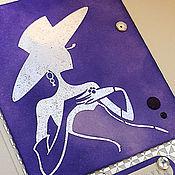 """Открытки ручной работы. Ярмарка Мастеров - ручная работа """"Дама в шляпе"""" открытка. Handmade."""