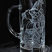 Посуда handmade. Livemaster - original item Dwarf scout. Beer mug. Handmade.