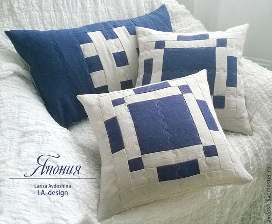 Лоскутные подушки декоративные `Япония`. LA-Design. Лариса Авдошина.
