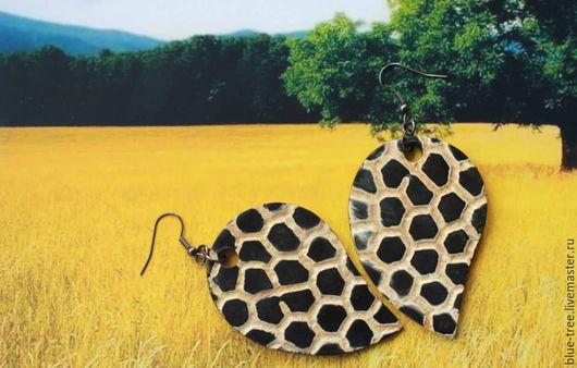 """Серьги ручной работы. Ярмарка Мастеров - ручная работа. Купить Серьги """"Жирафики"""". Handmade. Разноцветный, крупные"""