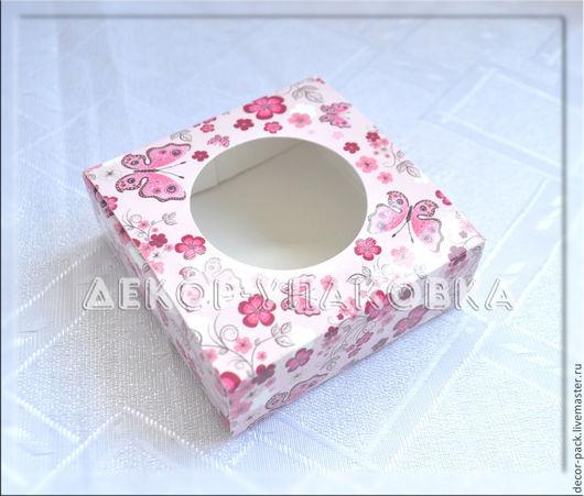 """Упаковка ручной работы. Ярмарка Мастеров - ручная работа. Купить Коробка сборная квадратная  """"Бабочки"""". Handmade. Разноцветный, бабочки, коробочка"""