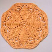 Для дома и интерьера handmade. Livemaster - original item mat knitted from a knitting yarn spaghetti flower. Handmade.