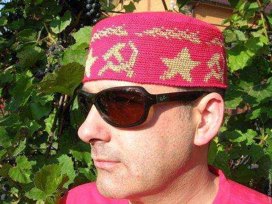 """Для мужчин, ручной работы. Ярмарка Мастеров - ручная работа. Купить Шапка """"Рожденный в СССР 2"""". Handmade. Разноцветный, шапка"""
