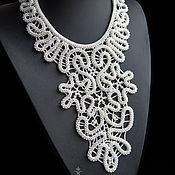 Украшения handmade. Livemaster - original item Lace beaded necklace. Handmade.