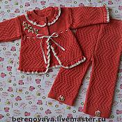 Вязание для новорожденных костюмчик для девочки 90