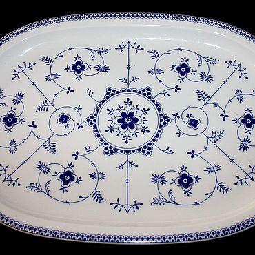 Vintage. Livemaster - original item Large serving dish Indisch Blau, Eschenbach, Herm. Handmade.