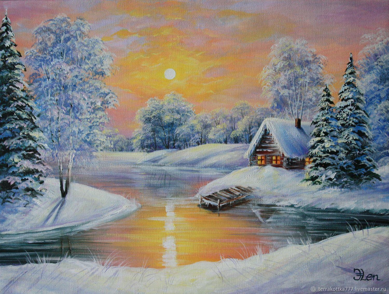 Картина,,Солнечная зимушка,,, Картины, Волгодонск,  Фото №1