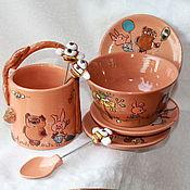 Посуда ручной работы. Ярмарка Мастеров - ручная работа Набор для варенья Винни и его друзья. Handmade.