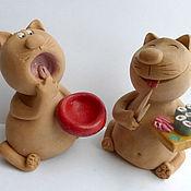 Куклы и игрушки ручной работы. Ярмарка Мастеров - ручная работа Накорми кота!. Handmade.