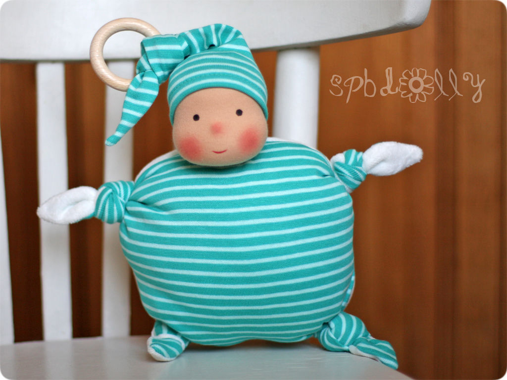 Пузик Полосатый - кукла подушка, кукла комфортер, вальдорфская кукла, Вальдорфские куклы и звери, Санкт-Петербург,  Фото №1